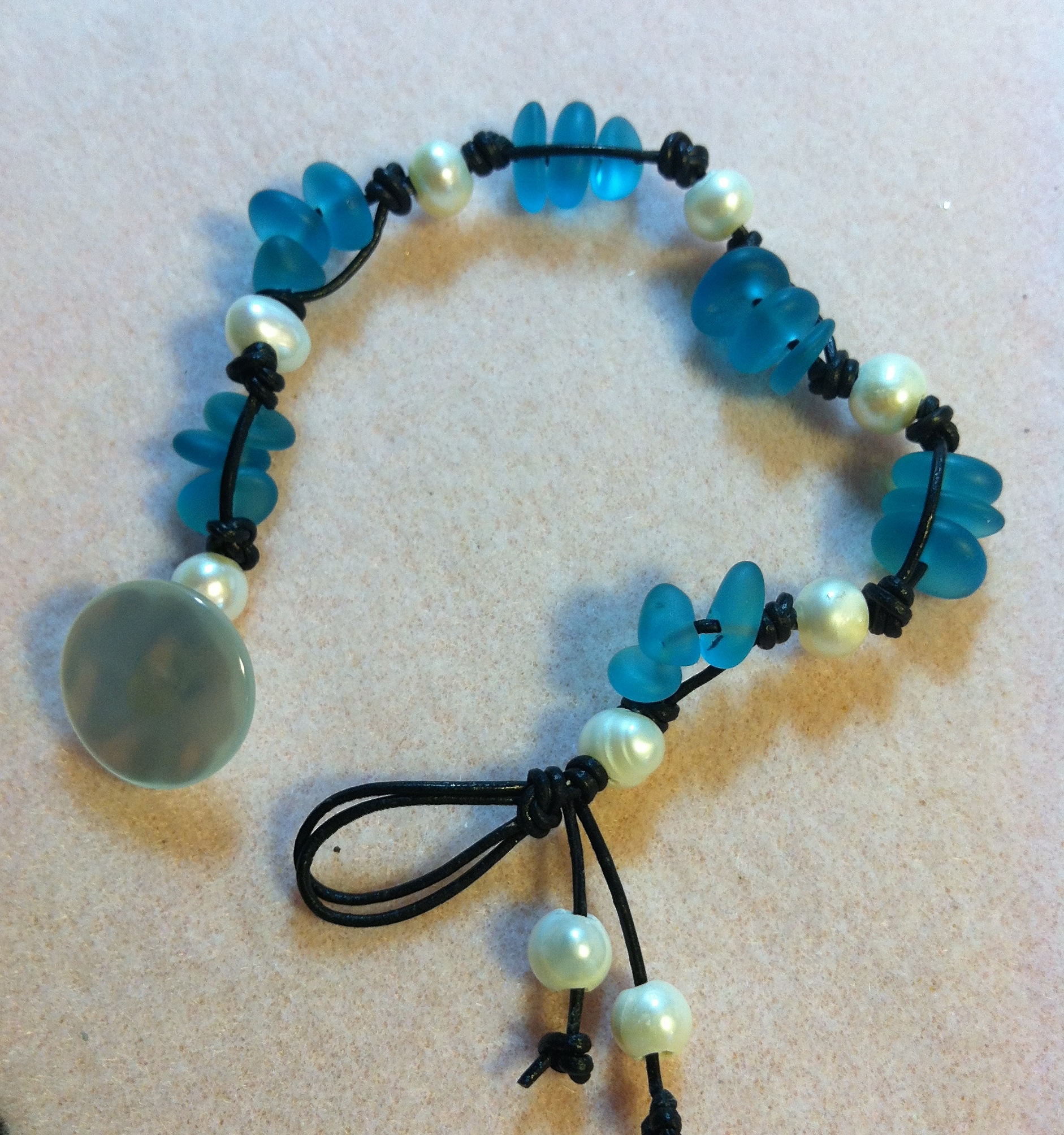 $38 Beach Glass and Pearls